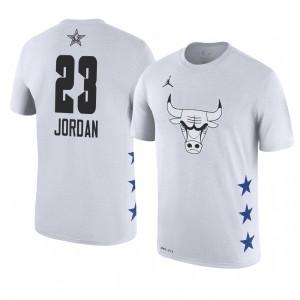 Chicago Bulls # 23 Michael Jordan 2019 All-Star-Spielname und -nummer Weißes T-Shirt