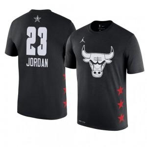 Chicago Bulls # 23 Michael Jordan 2019 All-Star-Spiel Name und Nummer Schwarzes T-Shirt