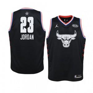Chicago Bulls # 23 Schwarz Michael Jordan 2019 All-Star-Spiel Swingman Trikot Jugend