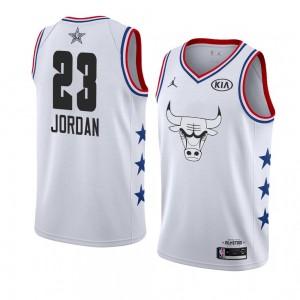 Chicago Bulls # 23 Weißes Michael Jordan 2019 All-Star-Spiel Swingman fertige Trikot-Männer