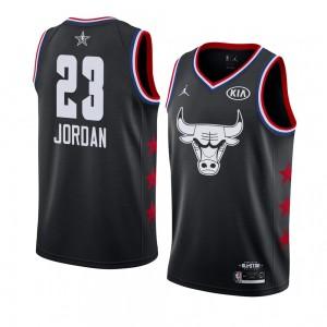 Chicago Bulls # 23 Schwarz Michael Jordan 2019 All-Star-Spiel Swingman fertige Trikot-Männer