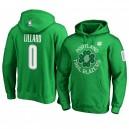 Portland Trail Blazers ^ 0 Damian Lillard Green Männer Sweatshirt St. Patrick's Day Hoodie