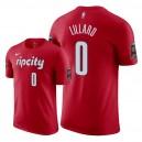 Herren Portland Trail Blazers ^ 0 Damian Lillard erhielt das Edition T-Shirt - Rot