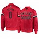 Portland Trail Blazers ^ 0 Damian Lillard Herren The Champ Varsity Satin Red Jacke