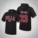 Chicago Bulls der Männer ^ 23 Michael Jordan schwarze Hartholz-Klassiker Throwback französischer Terry-Hoodie