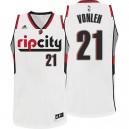 Noah Vonleh Portland Trail Blazers &21 Rip City Pride White Swingman Jersey