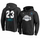 Los Angeles Lakers ^ 23 LeBron James Black 2019 All-Star-Hoodie für Herren