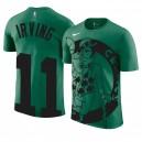 Herren Boston Celtics ^ 11 Kyrie Irving - Übergroßes Druckteam Logo Name & Nummer Grünes T-Shirt