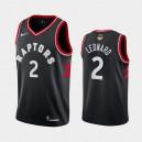 Männer Toronto Raptors &2 Kawhi Leonard schwarz 2019 NBA-Finale-Statement Trikot