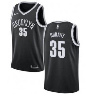 Brooklyn Nets #35 Kevin Durant NBA Swingman schwarz Trikot