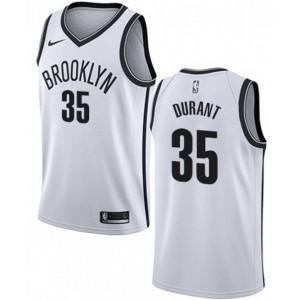Herren Kevin Durant #35 Brooklyn Nets Weiß Basketball Swingman Trikot