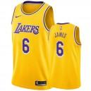 Los Angeles Lakers LeBron James &6 Ikone Golden Herren Trikot