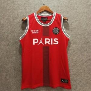 Paris Saint Germain 23 Michael Jordan Rot Mode Shirt