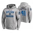 Herren - Dallas Mavericks &41 Dirk Nowitzki Ash Victory Arch Hoodie