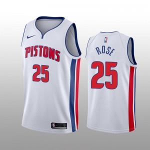 Detroit Pistons Derrick Rose Weiß Swingman Association Auflage Trikot