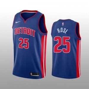 Detroit Pistons Derrick Rose Blau Swingman Icon Auflage Trikot