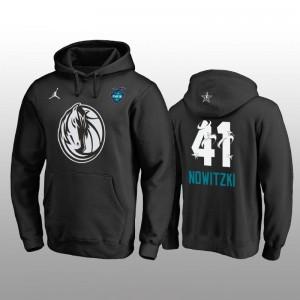Dallas Mavericks #41 Dirk Nowitzki Schwarz 2019 All-Star Hoodie - Herren