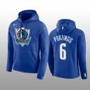 Der Dallas Außenseiter Verein Team Logo Blau Pullover Hoodie & 6 der Männer Kristaps Porzingis