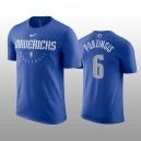 Dallas Mavericks &6 Kristaps Porzingis Nike Practice Legend Performance T-shirt - Blau