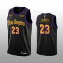 Los Angeles Lakers LeBron James Schwarz Swingman City Auflage Trikot