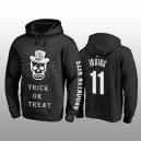 Kyrie Irving Brooklyn Nets schwarz Halloween Trick oder behandeln Pullover Hoodie