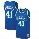 Mitchell und Ness Dirk Nowitzki Dallas Mavericks Blau 1998-99 Hardwood Classics Swingman Trikot