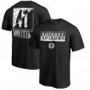 Fanatiker Dirk Nowitzki Dallas Mavericks Schwarzes Yin & Yang Name und Nummer T-Shirt