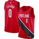 Nike Damian Lillard Portland Trail Blazer Rotes Swingman-Trikot - Statement Edition