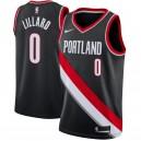 Nike Damian Lillard Portland Trail Blazer Schwarz Swingman Trikot - Icon Edition
