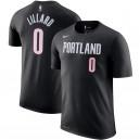 Nike Damian Lillard Portland Trail Blazer - Schwarzes T-Shirt mit Spielername und -nummer