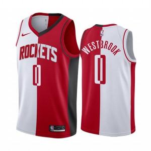 Houston Rockets Russell Westbrook Weiß Rot Split Trikot