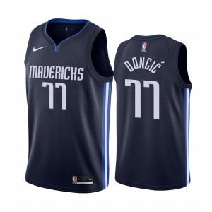 Dallas Mavericks Luka Doncic Navy 2019-20 Erklärung Neueste Trikot