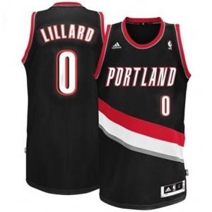 Portland Trail Blazers #0 Damian Lillard Revolution 30 Swingman Schwarz Kaufen Basketball Trikots