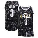 Utah Jazz &3 Trey Burke Black City Lights Fashion Swingman Jersey