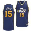 Utah Jazz &15 Derrick Favors Revolution 30 Swingman Road Jersey