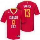 Rockets New Uniform-Houston 2015-16 Season &13 James Harden New Swingman Clutch City Pride Red Jersey