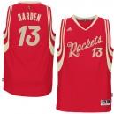 NBA 2015-16 Season Houston Rockets &13 James Harden Christmas Red Jersey