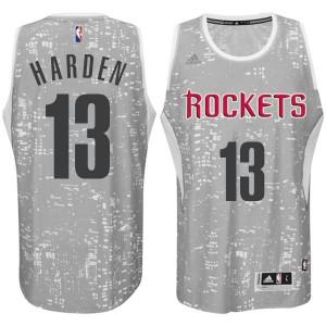 Houston Rockets #13 James Harden City Lights graue Swingman Kaufen Basketball Trikots