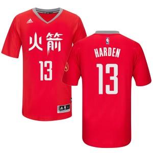 Houston Rockets #13 James Harden Chinese neue Year Rot Kaufen Basketball Trikots