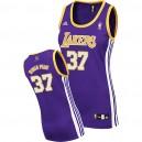 Los Angeles Lakers &37 Metta World Peace Women Purple Jersey