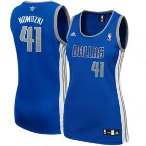 Dallas Mavericks #41 Dirk Nowitzki Frauen die königlichen Blau Kaufen Basketball Trikots