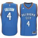 Oklahoma City Thunder &4 Nick Collison 2014-15 New Swingman Road Blue Jersey