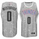 Oklahoma City Thunder &0 Russell Westbrook City Lights Gray Swingman Jersey