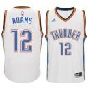 Oklahoma City Thunder &12 Steven Adams 2014-15 New Swingman Home White Jersey