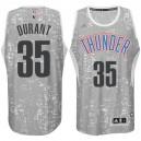 Oklahoma City Thunder &35 Kevin Durant City Lights Gray Swingman Jersey