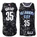 Kevin Durant Oklahoma City Thunder &35 Black City Lights Fashion Swingman Jersey