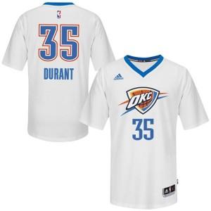 Oklahoma City Thunder #35 Kevin Durant 2014-15 Pride Swingman Weiß Kaufen Basketball Trikots