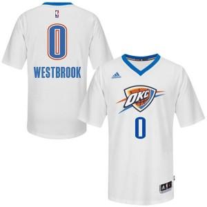 Oklahoma City Thunder #0 Russell Westbrook 2014-15 Pride Swingman Weiß Kaufen Basketball Trikots