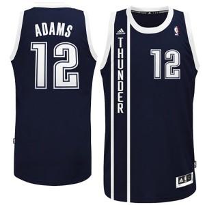 Oklahoma City Thunder #12 Steven Adams Revolution 30 Swingman Alternate Marine Blau Kaufen Basketball Trikots
