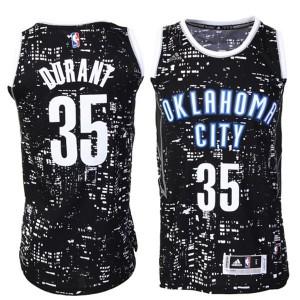Oklahoma City Thunder #35 Kevin Durant Schwarz City Lights Fashion Swingman Kaufen Basketball Trikots